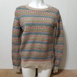 Wallace sweater Large Nordic fair isle merino wool